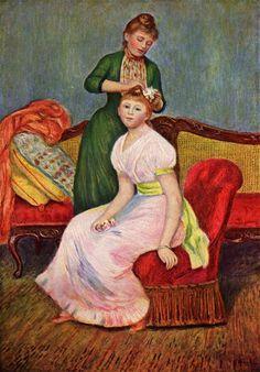 La Coiffure by Pierre-Auguste Renoir, 1888