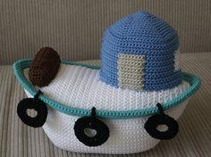 Pattern for crochet boat from ETSy