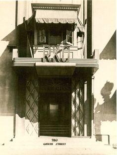 RKO studio entrance in 1934.  Bizarre Los Angeles