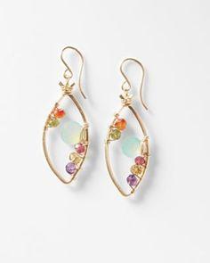 Nashelle Semiprecious Oval Earrings