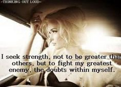 Doubts within myself...