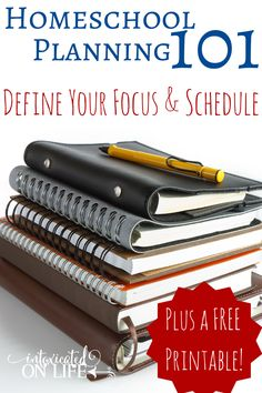 Learn how you can define your focus and schedule in part 2 of Homeschool Planning 101. Plus, grab this free printable to make your life easier!