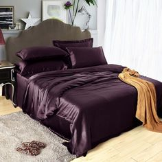 Purple Bedding Sets, Queen Bedding Sets, Black Bedding, Comforter Sets, Comforter Cover, Black Bed Sheets, Silk Bed Sheets, Cheap Bed Sheets, Luxury Duvet Covers