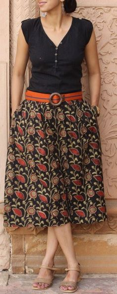 A beautiful skirt style pant by handsofindia