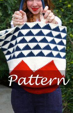 CROCHET PATTERN for The Garden Tote Bag por SansLimitesCrochet, $6.00