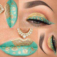 Этот макияж вдохновлен индийским стилем