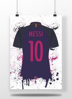 Lionel Messi Barcelona Away Shirt / Jersey / Kit Illustrated Soccer Pro, Soccer Fifa, Kids Soccer, Soccer Cleats, Soccer Ball, Messi Tattoo, Messi Shirt, Lionel Messi Barcelona, Soccer Motivation