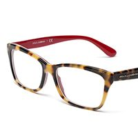 437fcc26a1 Women s red eyeglasses with rectangle frame Dolce Red Eyeglasses