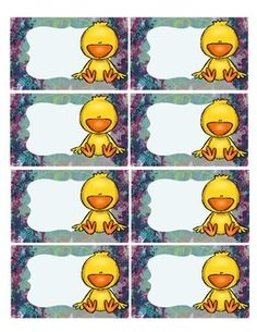 This is a set of duck themed classroom labels.