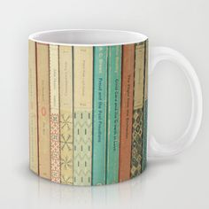 Book spines mug.