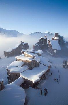 Avoriaz ski resort in the French Alps
