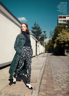 """""""Urban Chic"""" Luisa Bianchin by Gregor Hohenberg for ELLE Germany August 2014"""