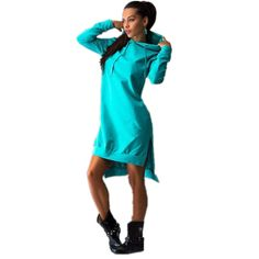 Jesień 2016 Bluzy Z Długim Rękawem Sukienka Szczupła Bluza z kapturem Damskie List Drukuj z Kapturem Z Przodu Kieszeń