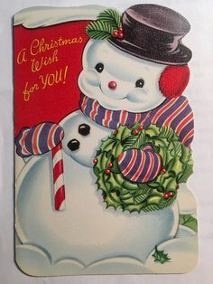 Vintage Childrens Christmas Card with envelope Vibrant color on the front picture: Inside cover: Draw by connecting the numbered dots to make a Christmas Picture. Inside: Christmas wishes Back Cover: Xmas Picture to color Beautiful Christmas Cards, Vintage Christmas Cards, Retro Christmas, Christmas Greeting Cards, Christmas Greetings, Christmas Wishes, Christmas Diy, Rustic Christmas, Vintage Diy