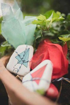 #paperplane #handpainted #mpomponiera #Baptism Christening Decorations, Paper Plane, Greece, Hand Painted, Gifts, Greece Country, Presents, Baptism Decorations, Paper Planes