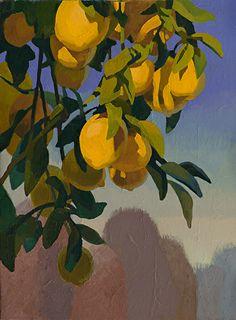 Lemon Zest by Carolyn Lord, Oil, 16 x 12 Aesthetic Painting, Aesthetic Art, Aesthetic Drawing, Painting Inspiration, Art Inspo, Arte Indie, Posca Art, Guache, Wow Art