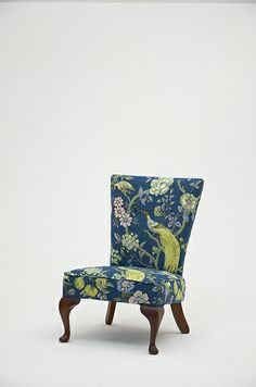 Antique Nursing Chair Fully re-sprung and reupholstered using patterned linen with a single piping detail. with re-polished framework. Furniture Reupholstery, Nursing Chair, Chair Fabric, Cool Chairs, Furniture Inspiration, Chinoiserie, Accent Chairs, Art Deco, Project Ideas