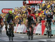 Spring de la segunda etapa , del Tour de Francia .