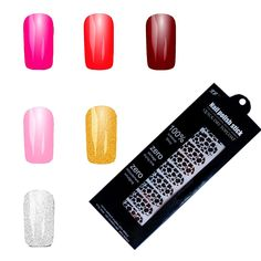 6 Colors Nail Art Polish Metallic Foil Sticker Tattoo Decal Patch Wraps Tips for Women Girls Wife -- Details can be found by clicking on the image.