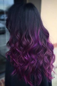 black and purple ombre waves lavender ombre hair and purple ombre 20 Cool ideas for lavender ombre hair and purple ombre. Best and unique ideas for lavender ombre hair and purple ombre. Brown Ombre Hair, Hair Color Purple, Hair Colors, Black To Purple Ombre, Black Hair With Color, Deep Purple Hair, Hair Color Tips, Curly Purple Hair, Purple Haze