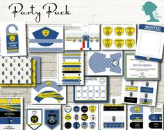 Party Printable: Police Party Value Pack $20AUD by The Digi Dame Etsy Shop digidame.etsy.com