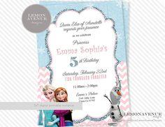 Frozen Invitation Custom Frozen Invitation by LemonAvenueDesigns