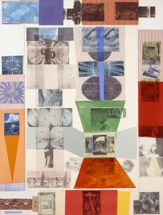 Robert Rauschenberg    Cloister Series, 1980    Collage and painting/981/2 x 75 in. (250.2 x 190.5cm)    The Museum of Contemporary Art, Los Angeles Partial and promised gift of The Grinstein Family