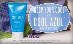 Cool Azul Sports Gel delivers a cooling sensation to the skin with a unique, plant-based formula that includes pure essential oils.