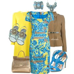 """blueyellow"" by gaitriesharda on Polyvore"