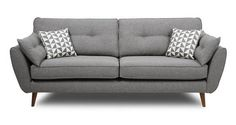 DFS teams up with French Connection to make hand-built frame and a comfortably sleek and streamlined sofa shape. Read more about our French Connection sofa collection. Sofa Uk, Dfs Sofa, 3 Seater Sofa, Sofa Beds, Black Leather Sofa Bed, Grey Leather, Sofas Vintage, Cuddler Sofa, Sofa Company