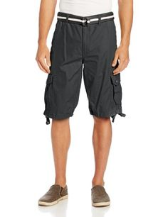 32cbe64ffbf828 Men s Clothing - Southpole Mens AllSeason Belted Ripstop Basic Cargo Short      To view
