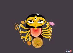 Happy Navaratri: Know the Navadurga - the 9 Forms of Goddess Durga Durga Picture, Maa Durga Photo, Maa Durga Image, Durga Maa, Shiva Shakti, Durga Goddess, Kali Puja, Hindu Festivals, Indian Festivals