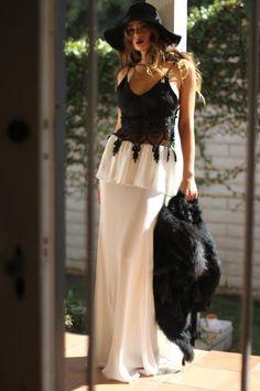 Oui Crop Lush Skirt