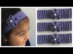 Crochet Slipper Pattern, Crochet Slippers, Crochet Patterns, Crochet Baby, Knit Crochet, Baby Hair Bands, Diy Bebe, Crochet Flowers, Fingerless Gloves
