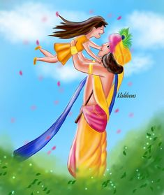 Krishna Lila, Krishna Radha, Hare Krishna, Cute Cartoon Drawings, Art Drawings, Minion Baby, Krishna Drawing, Krishna Wallpaper, Calligraphy Art