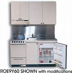 Acme ROE Compact Kitchen with Stainless Steel Countertop ...