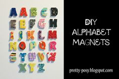 DIY Magnetic Letters