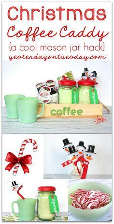 Christmas Coffee Caddy + DIY Peppermint Creamer {via Yesterday on Tuesday}