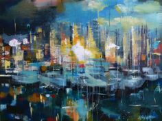 """Yared Nigussu acrylic on canvas 36'X48"""" SOLD"""