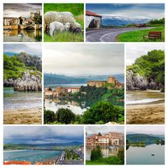 Collage Village in Cantabria (Spain) by JCB Photogr@phic on Creative Market