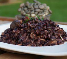 Risoto de shimeji com arroz negro - Lucilia Diniz