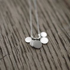 RESERVED Sequins galore II multi silver discs necklace by Minicyn