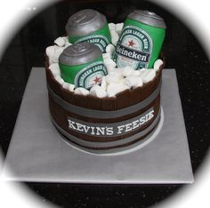 Heineken beer cake.