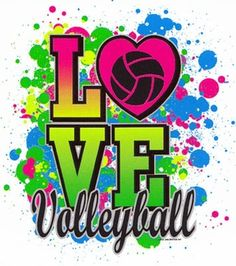 Love Volleyball Neon Paint Short Sleeve T-Shirt - in 26 Colors