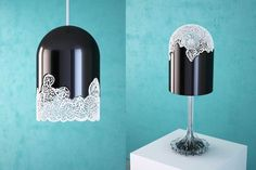 Lacelamps, the latest fantastic 3D printed lamps have been designed byParis-based artists and designers Linlin and Pierre-Yves Jacques.These lamps are a collection of lighting designs inspired bytraditional lace patterns and