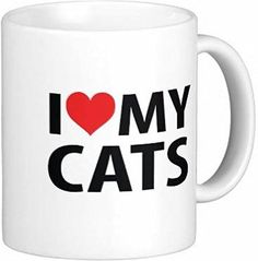 Pair of I Love My Cats 11 oz Ceramic Coffee Mugs by Quick Mugs 2 U * Insider's special review you can't miss. Read more  : Cat mug