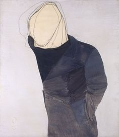 Luc Tuymans , Suicide, 1975, oil on wood, paper and iron, 100x115cm