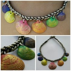Seashell necklace (for a 4 years old missy).  #seashell #diy #diynecklace #necklace