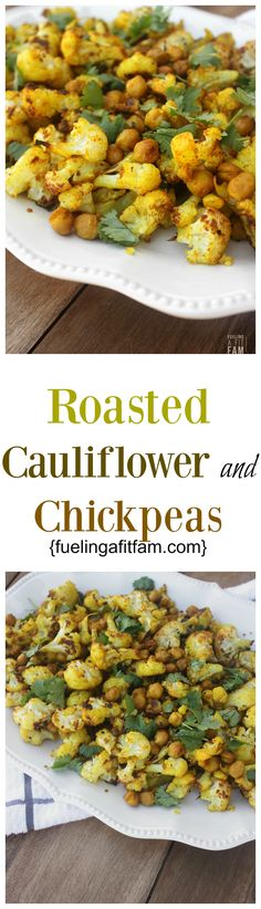 This Roasted Cauliflower and Chickpeas has a secret ingredient that makes it even healthier!