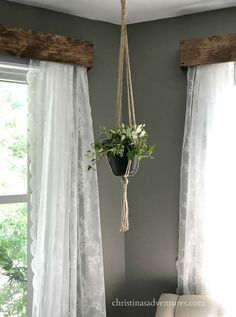 DIY wood window valance - Christinas Adventures